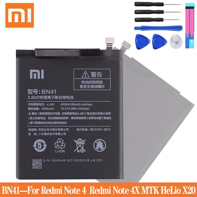 Xiao Mi BN41 Оригинальный аккумулятор для телефона Xiaomi Redmi Note 4 4X 3 Pro 3S 3X 4X Mi 5 BN43 BM22 BM46 BM47 сменные батареи