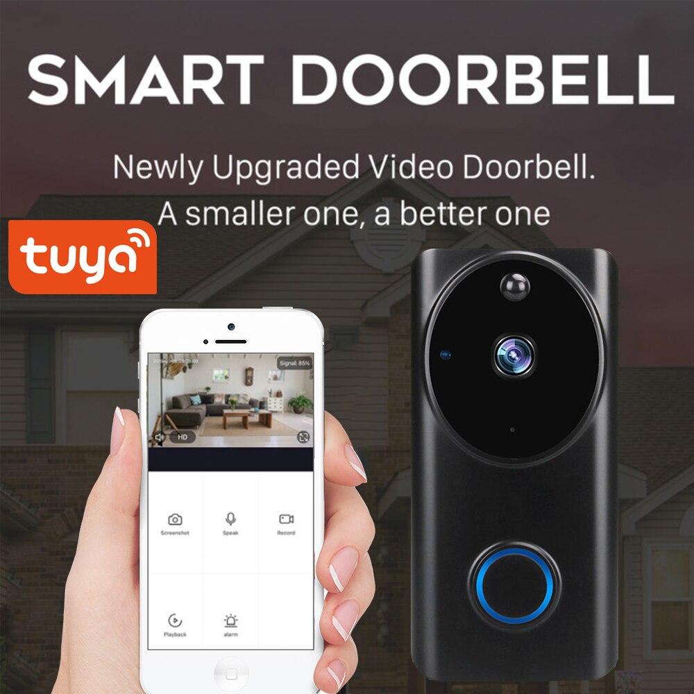 SmartLife приложение Tuya 1080P WiFi видео дверной звонок Смарт видео домофон приложение управление телефонным звонком монитор камера ночного видени...