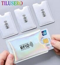 Anti Rfid porte-carte NFC blocage lecteur serrure Id porte carte bancaire étui de Protection en métal étui pour cartes de crédit en Aluminium J017