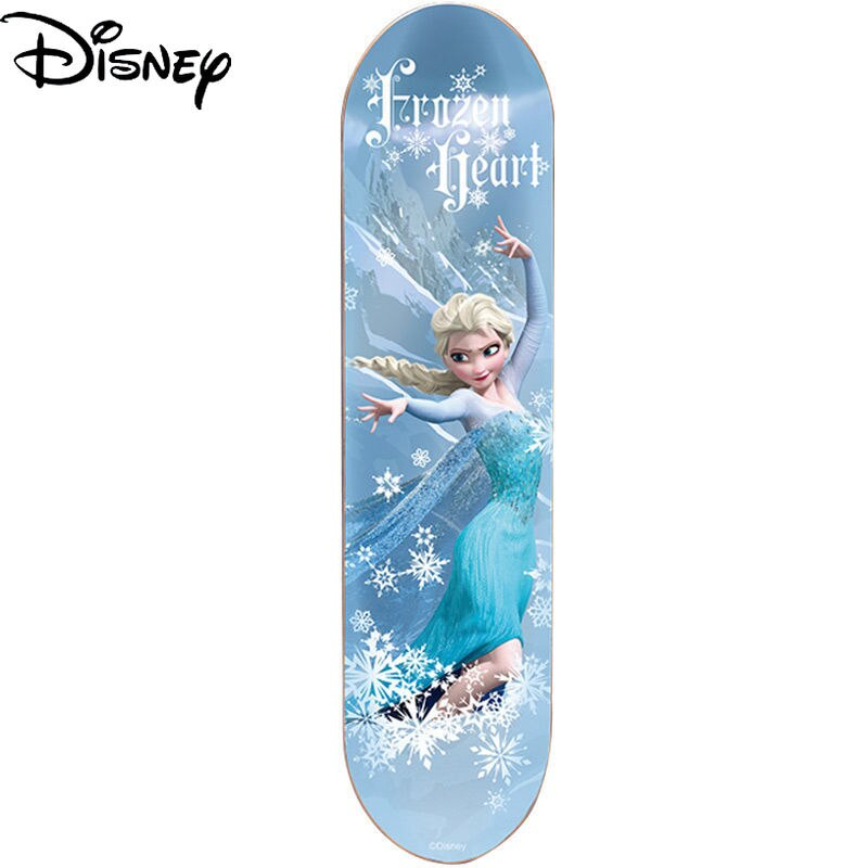 Disney Snow Princess Four-wheel Skateboard Student Beginner 6-12 Years Old with Flashing Carbon Steel Bearing Scooter