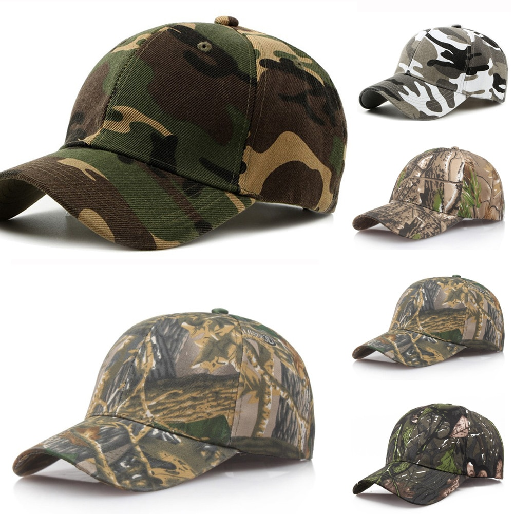Outdoor Sunscreen Quick-Drying Cap Jungle Leaves Camouflage Cap Unisex Men And Women Camo Baseball C