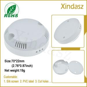 5pcs/Lot LED drive enclosure plastic for Smoke detector alarm round electronics plastic housing 70*70*23mm