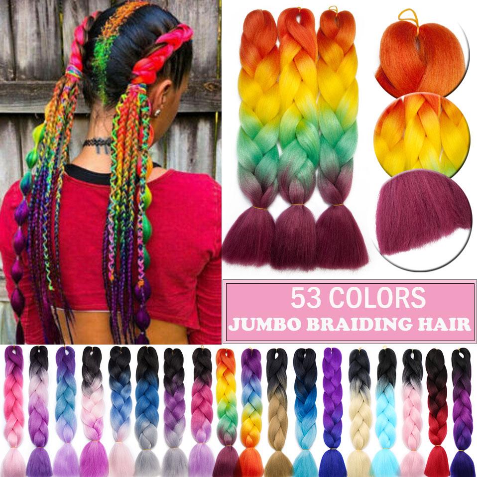 S-noilite 3 шт./упак. 24 дюйма Омбре jumo синтетические волосы для плетения, волосы для плетения крючком, наращивание волос для африканских черных