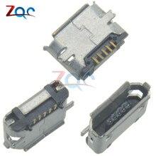 Connecteur Micro USB 5P 5P   10 pièces, Type B Micro prise USB 5 broches, connecteur Micro femelle, Port carte PCB
