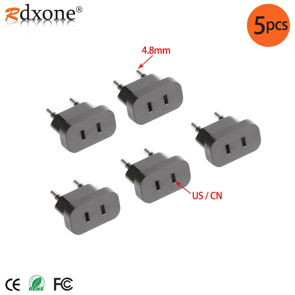 AliExpress - 4.8mm USA to Europe Plug Power Plug Adaptor With Security Door AC Power Adapter Phone Travel Wall Charge Socket Adapter.