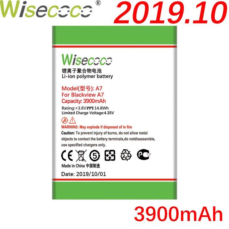 Wisecoco A7 3900mAh batería recién producido para Blackview A7 A 7 Pro reemplazo de la batería del teléfono + número de seguimiento