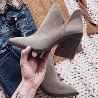 women boots 2021 ankle boots short snow boots autumn winter pointed toe high heels zipper shoes booties female botas mujer