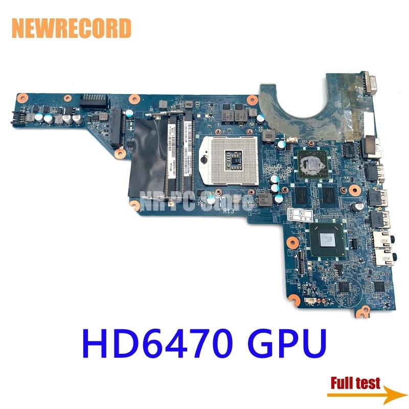 NEWRECORD DA0R13MB6E0 636375-001 650199-001 اللوحة لابتوب HP جناح G4 G6 G7 HM65 DDR3 HD6470 GPU اللوحة الرئيسية