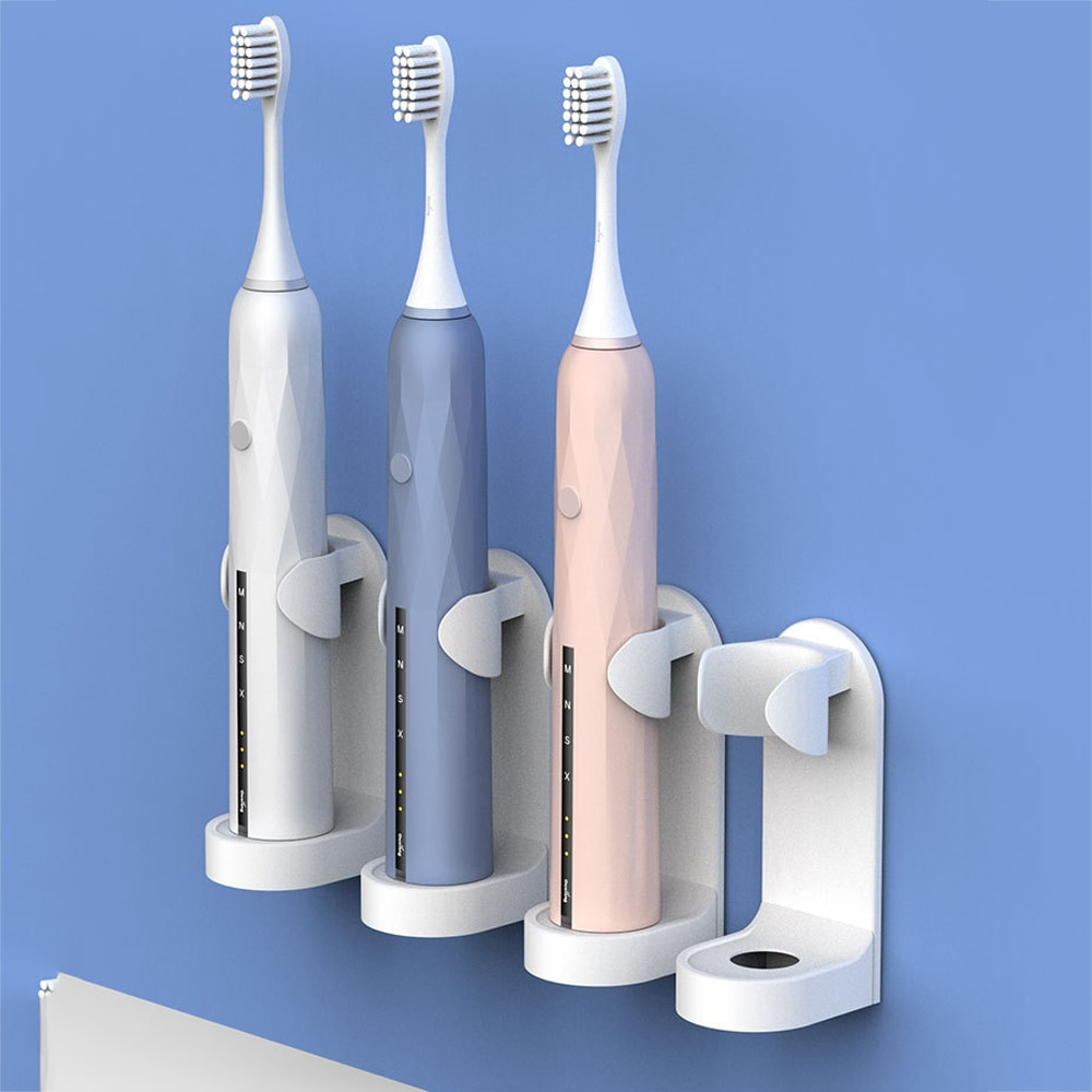 1Pc Creative Traceless Stand Rack Toothbrush Organizer Electric Toothbrush Wall-Mounted Holder Space