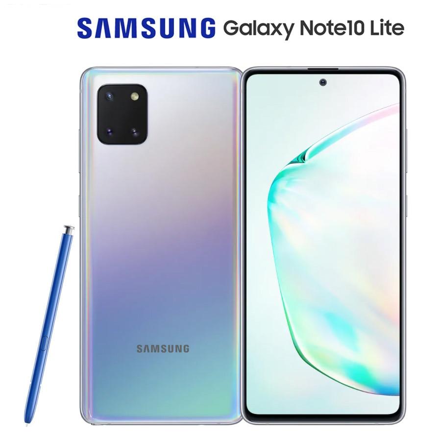 "Versão global samsung galaxy note10 lite SM-N770F/ds sim duplo 6.7 ""8gb ram 128gb rom octacore 4500mah nfc android 10 smartphone"