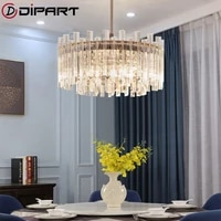 modern crystal chandeliers ceiling squareround hanging led chandelier for living room bedroom kitchen nordic dining room light