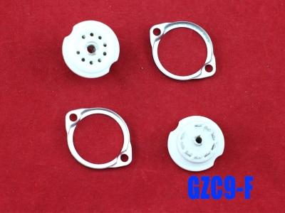 10 peças novo 9pin tubo GZC9-F soquetes base cerâmica 12ax7b, 12at7, el84, 6n1, 7025, 6e2, 12au7