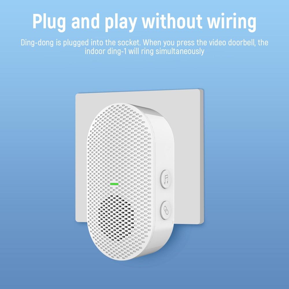 EKEN Wireless Doorbell Receiver Doorbell Indoor Chime Ding Dong For EKEN V7 V6 V5 With 38Tune Songs