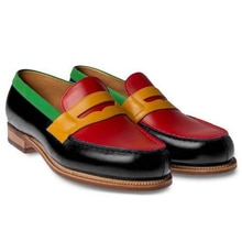 Handmade Mixed Colors Pu Leather Shoes Men Formal Shoes Loafers Casual Shoes Men Slip-on Shoes New S