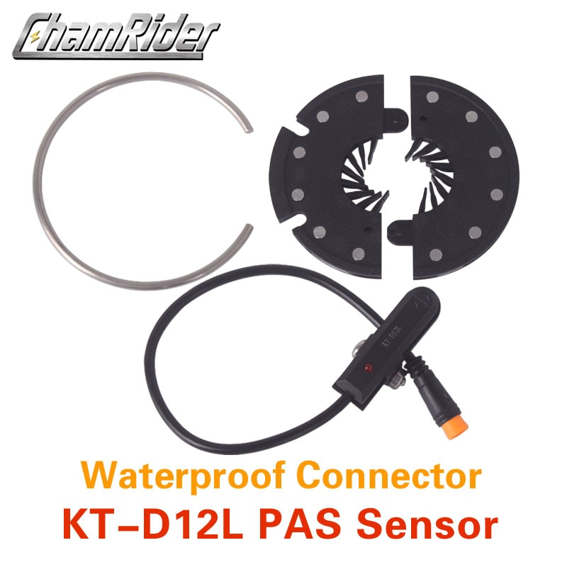 Frete grátis conector à prova dwaterproof água plug pas pedal auxiliar sensor KT-D12L 12 ímãs fácil de instalar