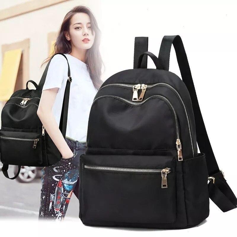 ربيع 2021 جديد أكسفورد القماش حقيبة كتف المرأة حقيبة حقائب لأوقات الترفيه النايلون طالب حقيبة سفر