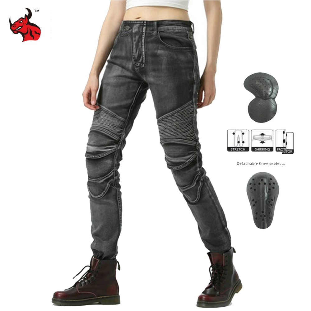 NEW Women Motorcycle Jeans Moto Pants Wearable Riding Racing Touring Motorbike Trousers Motocross Pants Pantalon Moto Pants 2016 real new moto moto z love no ugly as osu bb07 1 outdoor cic history mo saddlebag multi rot women one con la cope r suddenly