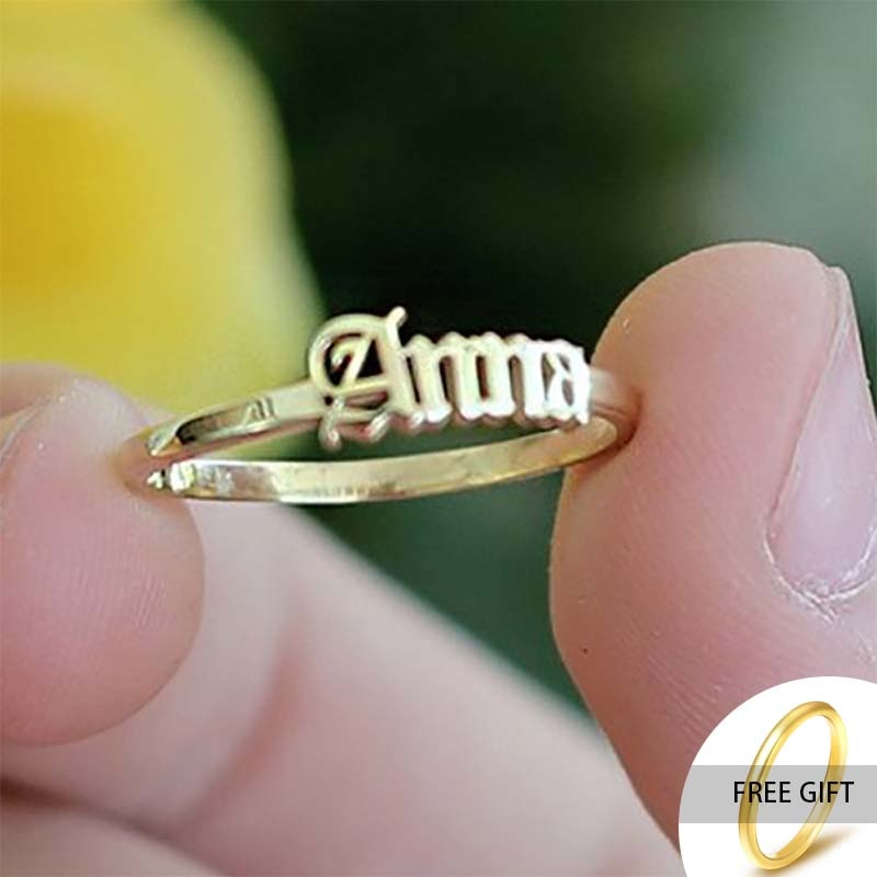 Custom Rings Gold Stainless Steel Name Rings for Women Silver Personalized Custom Name Rings Fashion Jewelry for Men welly merck silver stainless steel for men