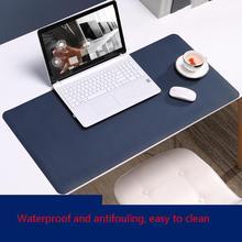 Tapis de bureau tapis de souris Extra Large tapis de souris de jeu-BUBM imperméable à leau résistant à lhuile tapis de clavier PU tapis de bureau PC tapis de bureau souris optique