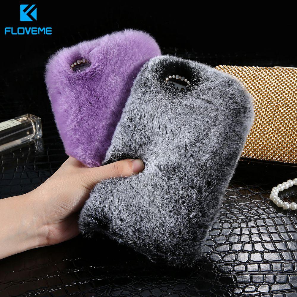 KISSCASE funda de teléfono peluda para Samsung S8 funda de teléfono Coque para Samsung NOTE 8 Fundas de teléfono de pelo mullido para Samsung J3