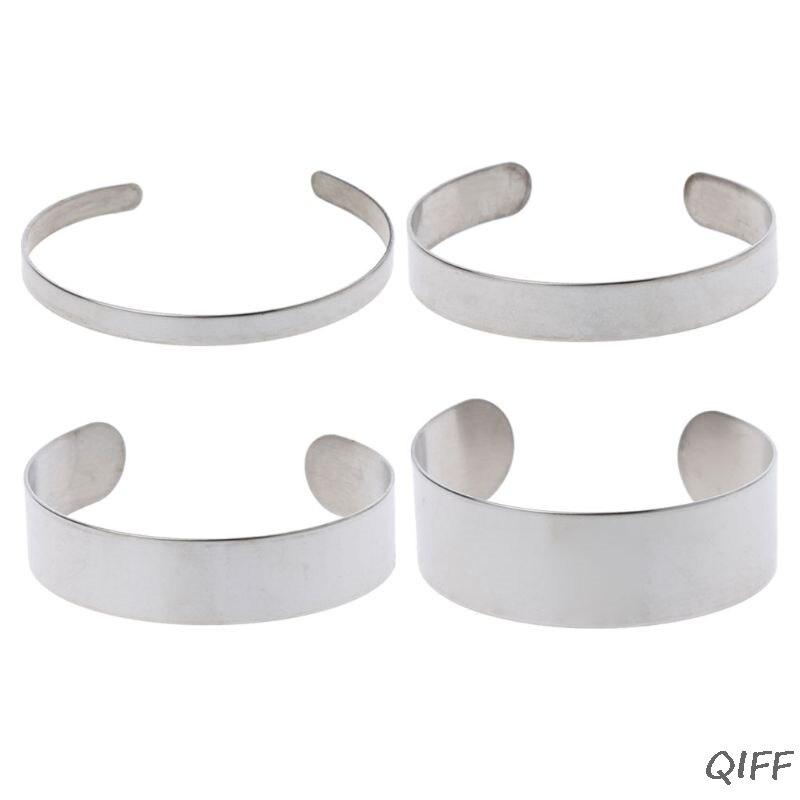 10 Uds. De titanio en Blanco estampado pulsera DIY cuero brazalete brazaletes fabricación de joyas
