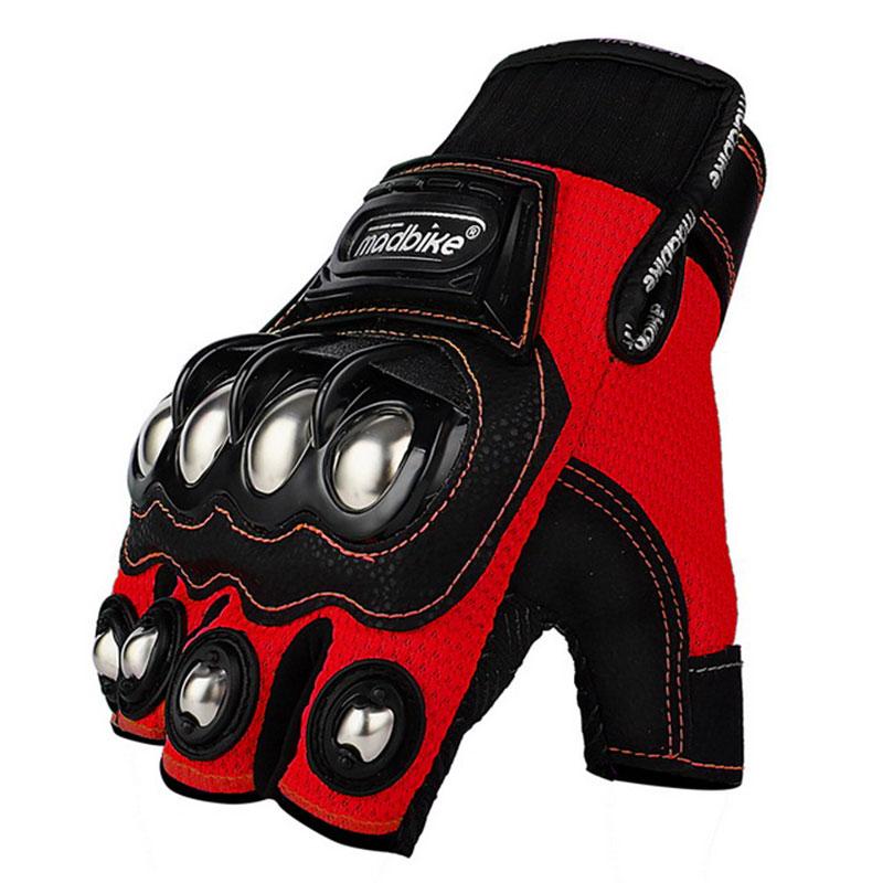 Мотоциклетные Перчатки Madbike, летние защитные локомотивные спортивные товары, наполовину закрывающие пальцы