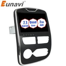 Eunavi 1 Din 10.1 Android 9.0 Car GPS Navigation Radio Stereo For Renault Clio 2016 2017 Quad Core 2G RAM WIFI Bluetooth RDS