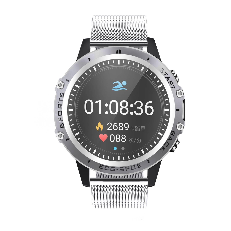 Reloj inteligente P8 bakey con pantalla táctil completamente ECG + Monitor de presión arterial PPG de frecuencia cardíaca HRV, reloj inteligente de índice para mujeres y hombres, Androud IOS