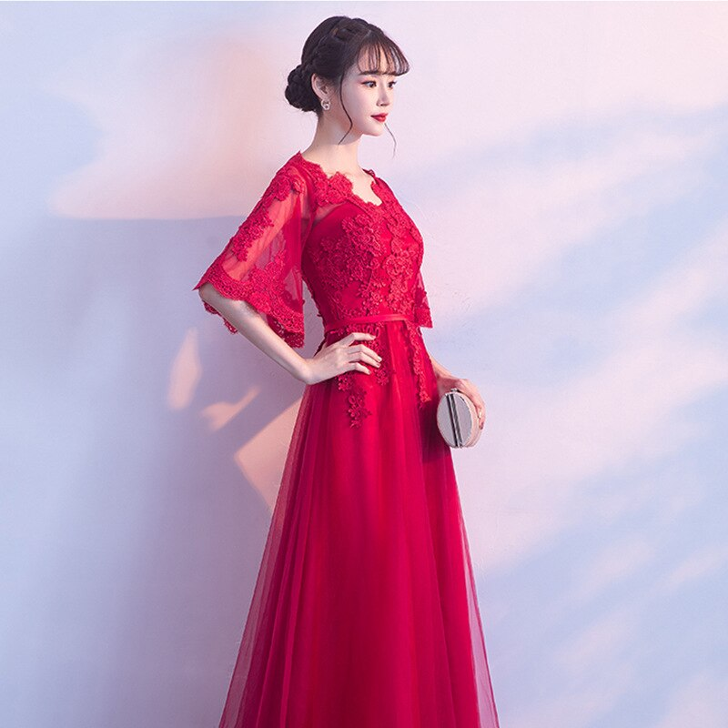 long Style Applique Bandage Design Dress Evening Dresses Pregnant Woman Bride Banquet Elegant Floor-length Formal Dress ZL637 enlarge