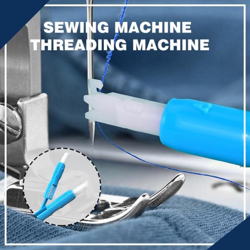 Enhebrador de aguja, aplicador con mango para máquina de coser, herramienta de roscado para accesorio de máquina de coser, envío directo