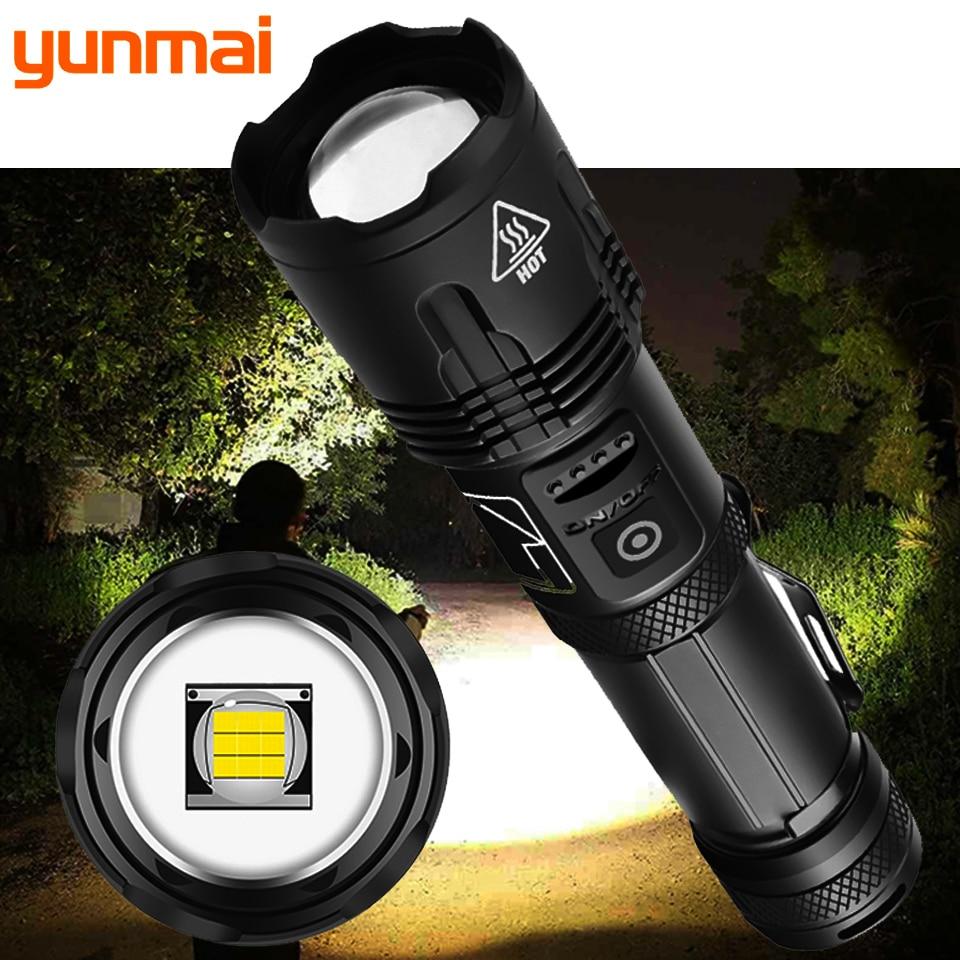 XHP100 عالي الجودة 9-core Led Flashlight زوومابلي الشعلة Usb قابلة للشحن 18650 أو 26650 بطارية قوة البنك وظيفة فانوس