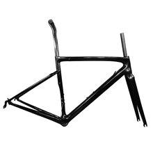 Taiwán hizo T1000 carbono bicicleta camino bicicleta llanta disco freno marco mecánico/tamaño DI2 44/49/52/54/56/58 XDB DPD disponible