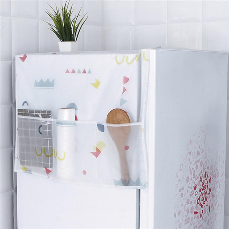 Elegante funda Universal nórdica moderna para lavadora, cubierta para nevera, cubierta para nevera, cubierta para polvo, 1 unidad