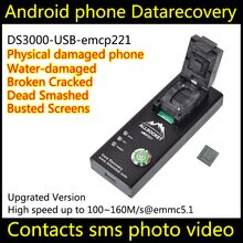 Emmc hembra emmc adaptador de programador de EMCP USB prueba EMCP221 BGA221 AIC1747-12GDAFA12G