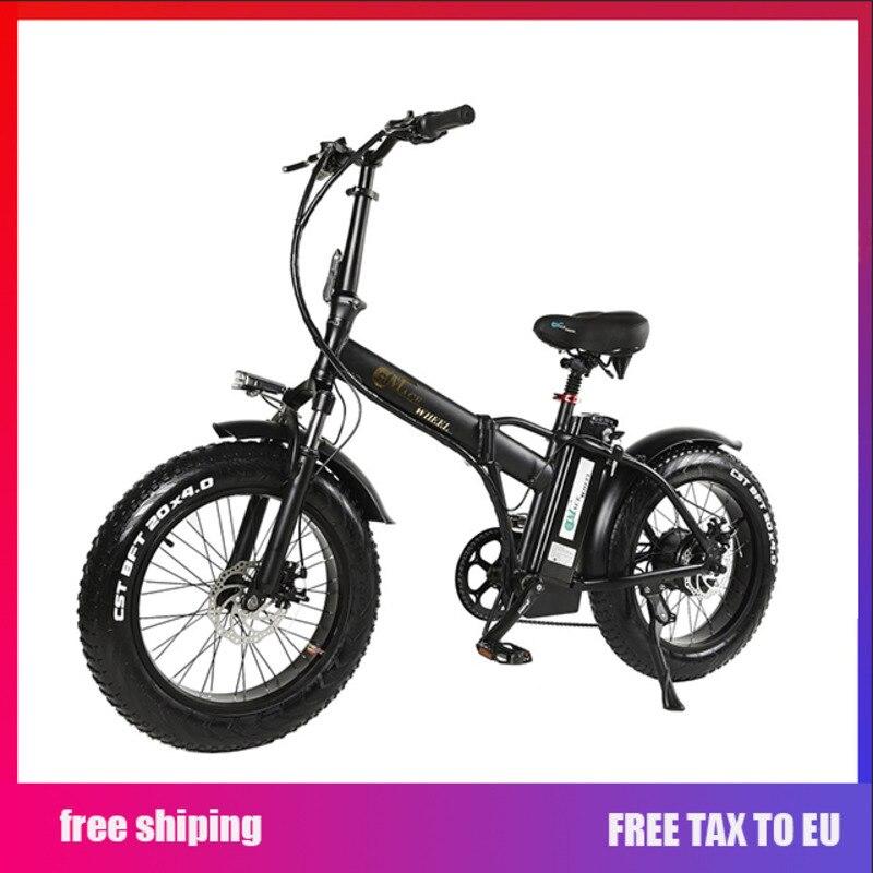 Europa 2 rueda de neumático gordo 500W bicicleta eléctrica con 48V 15ah batería extraíble eléctrica adulta bicicleta ciclo regalo equipaje