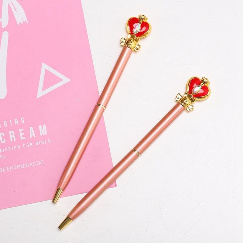 Anime marinha lua Sailor Moon Cosplay Prop acessórios bola caneta caneta estudante bonito material de escritório papelaria caneta esferográfica presente