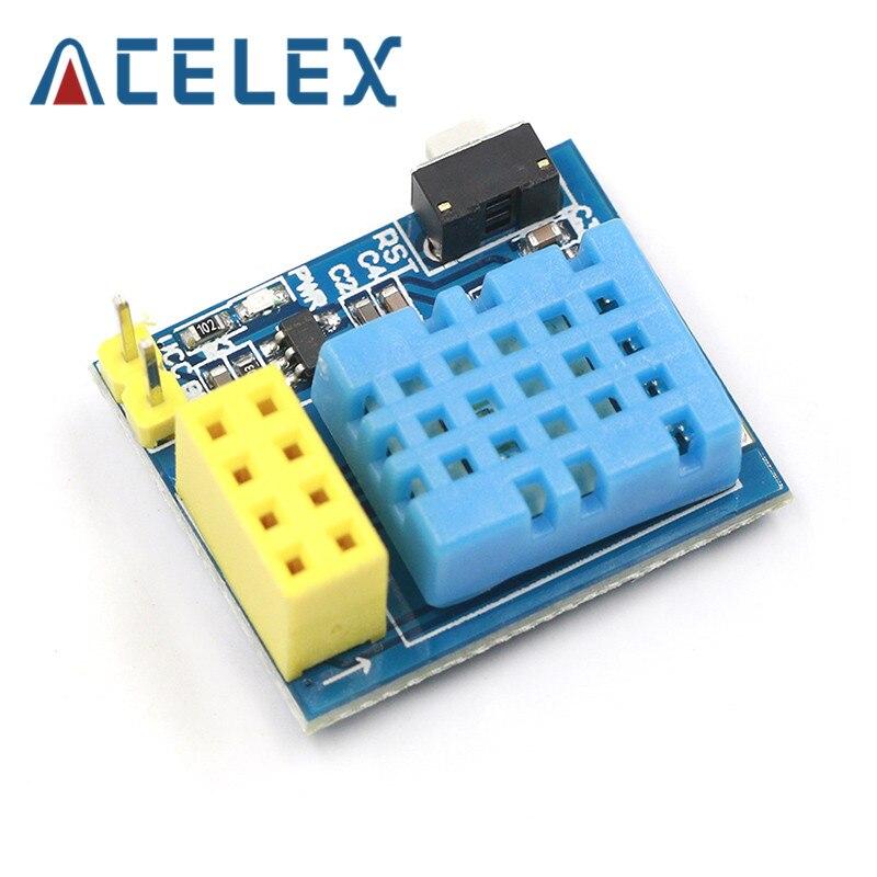 ESP8266 ESP-01 ESP-01S DHT11 Módulo de sensor de temperatura y humedad esp8266 Wifi NodeMCU casa inteligente IOT DIY Kit (sin ESP módulo)