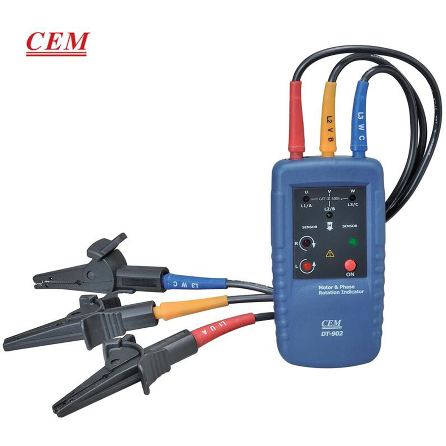 CEM DT-902 Phase Sequence Meter Motor Magnetic Field Indicator  Digital Phase Meter Voltage Frequency Measurement Hand Held.