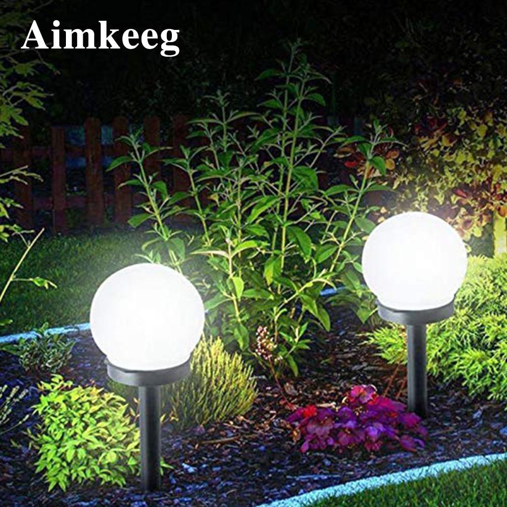 2PCS Led Solar Energy Powered Bulb Lamp Waterproof Outdoor Garden Ball Light Lawn  Night Lights Led Solar Lamp for Holiday Decor