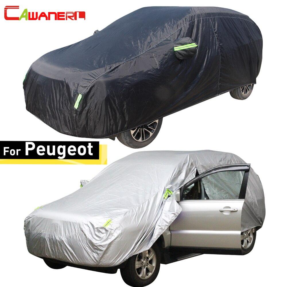 Cawanerl для Peugeot 1007 107 206 207 208 307 406 508 308 4008 5008 партнер водонепроницаемый чехол для автомобиля Защита от солнца, снега, дождя