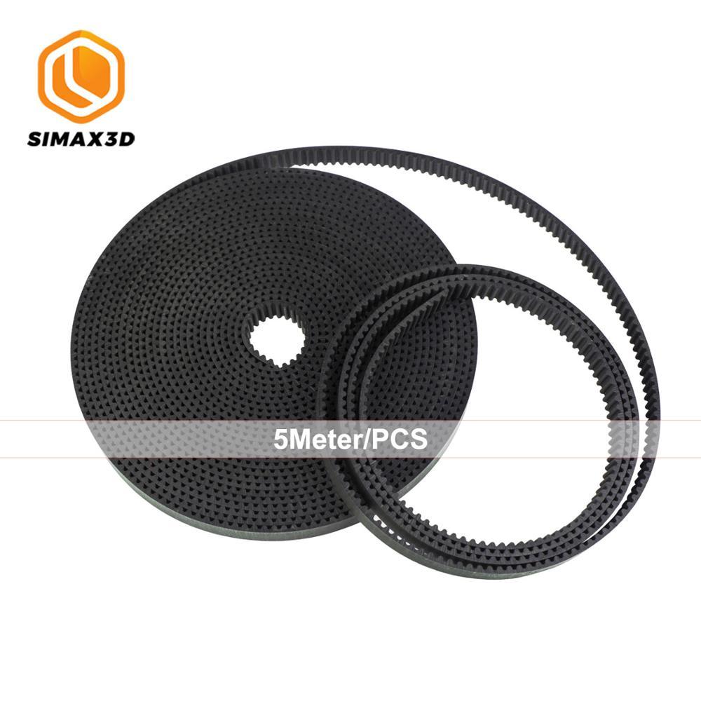 Correa de impresora 3D DIY SIMAX3D hotend, Correa GT2 de 6mm y 5 metros, accesorios de piezas de impresora 3D, correa de distribución GT2 para ender 3, kit ender 3 pro