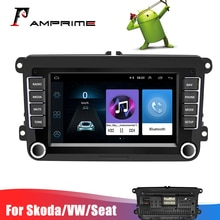 "AMPrime 7"" 2din Android Car Multimedia Player Autoradio For Skoda VW Passat B6 Polo Golf 4 Touran Seat For Volkswagen Car Radio"