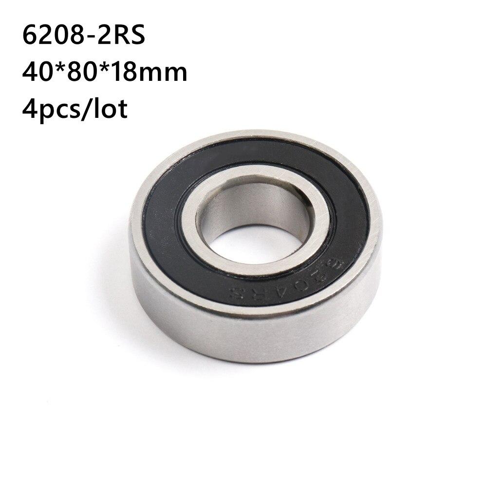4 قطعة/الوحدة 6208RS 6208-2RS 6208 2RS 40*80*18 مللي متر كرة أخدود عميقة تحمل 40x80x18 مللي متر