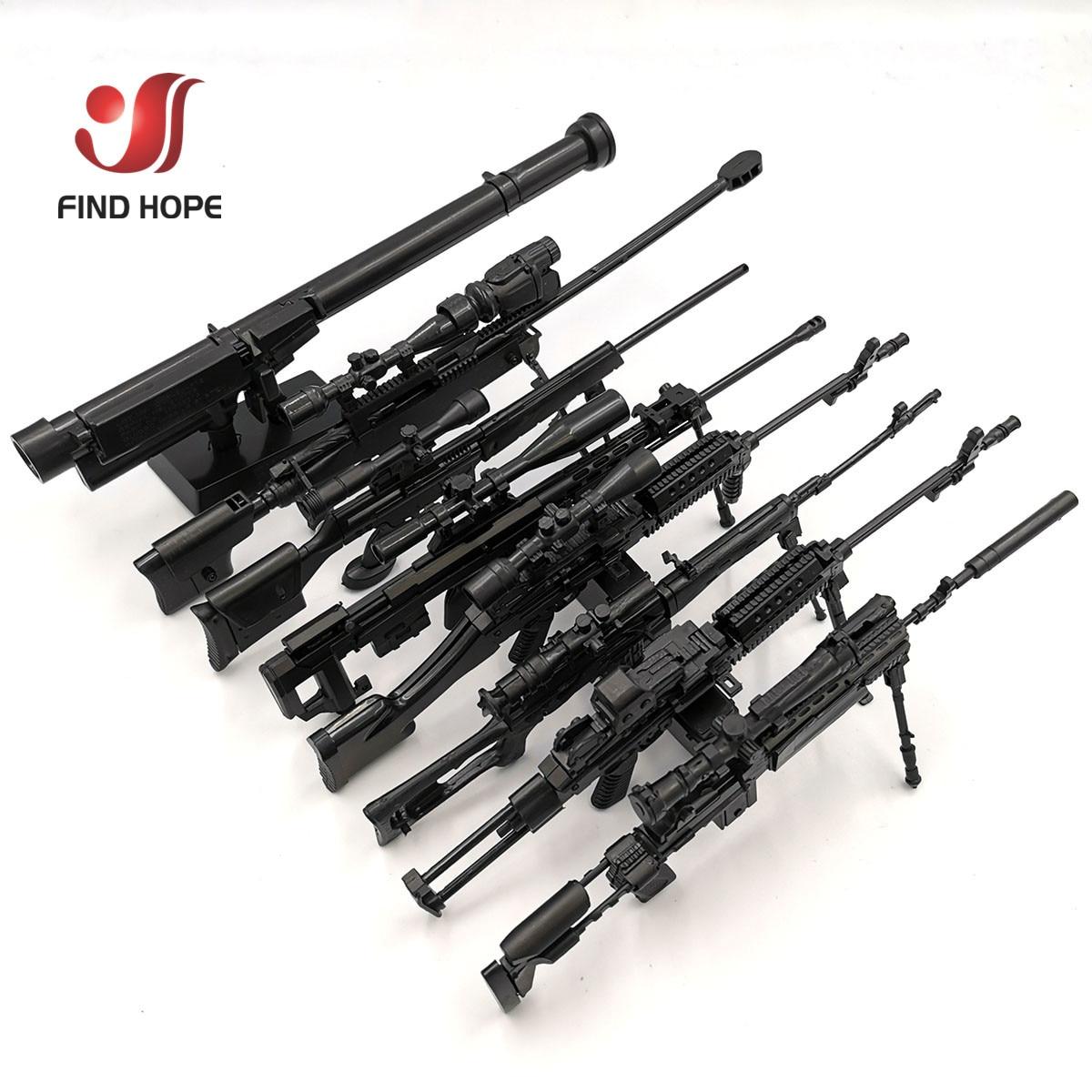 8 шт./компл. 1/6 SVD TAC-50 Mk46 MK14 PSG-1 FIM-43 DSR снайперская винтовка оружие собрать Игрушечная модель пистолета для фигурку