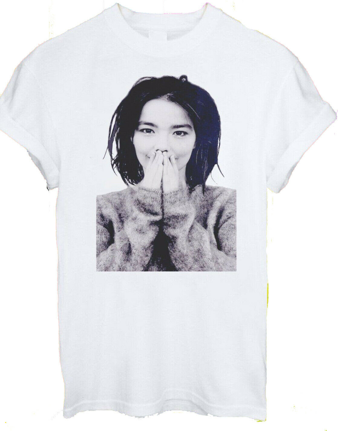 Bjork Мужская Дебютная футболка с надписью Happy Soft Fit, новинка, размеры S, M, L, Xl, 2X, 3X
