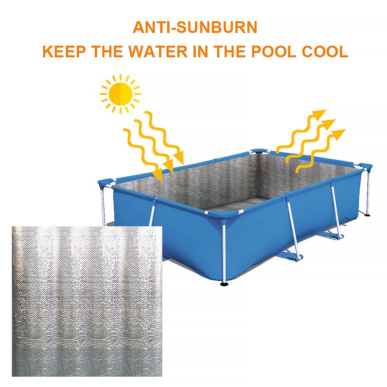 Защитный чехол для бассейна, изоляционная пленка для бассейна с УФ-защитой, пылезащитный чехол для бассейна
