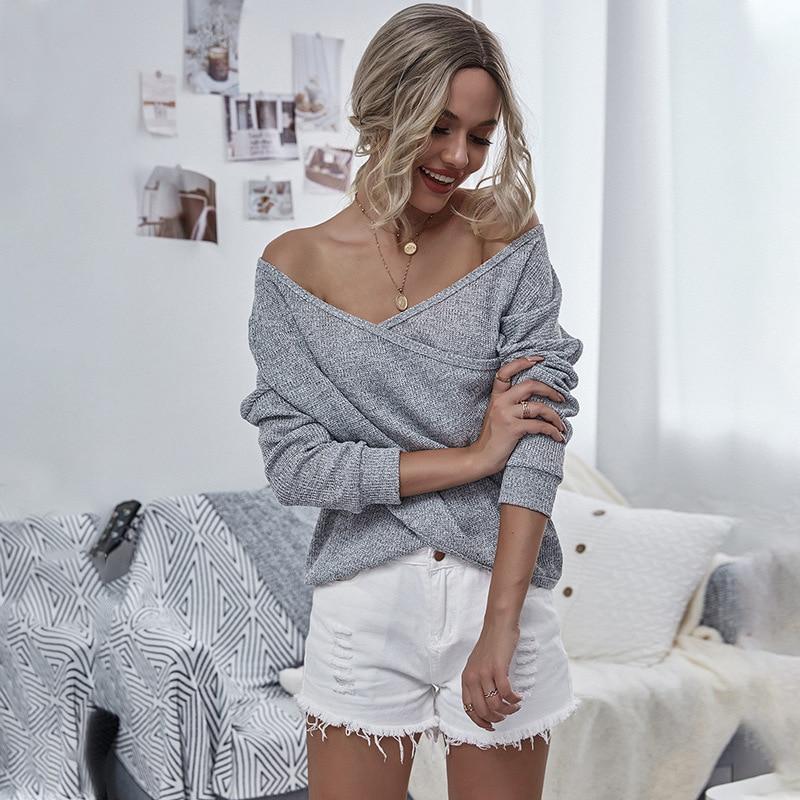 Camiseta a manches larga para mujer, Top Sexy, Moda de Primavera, camiseta...