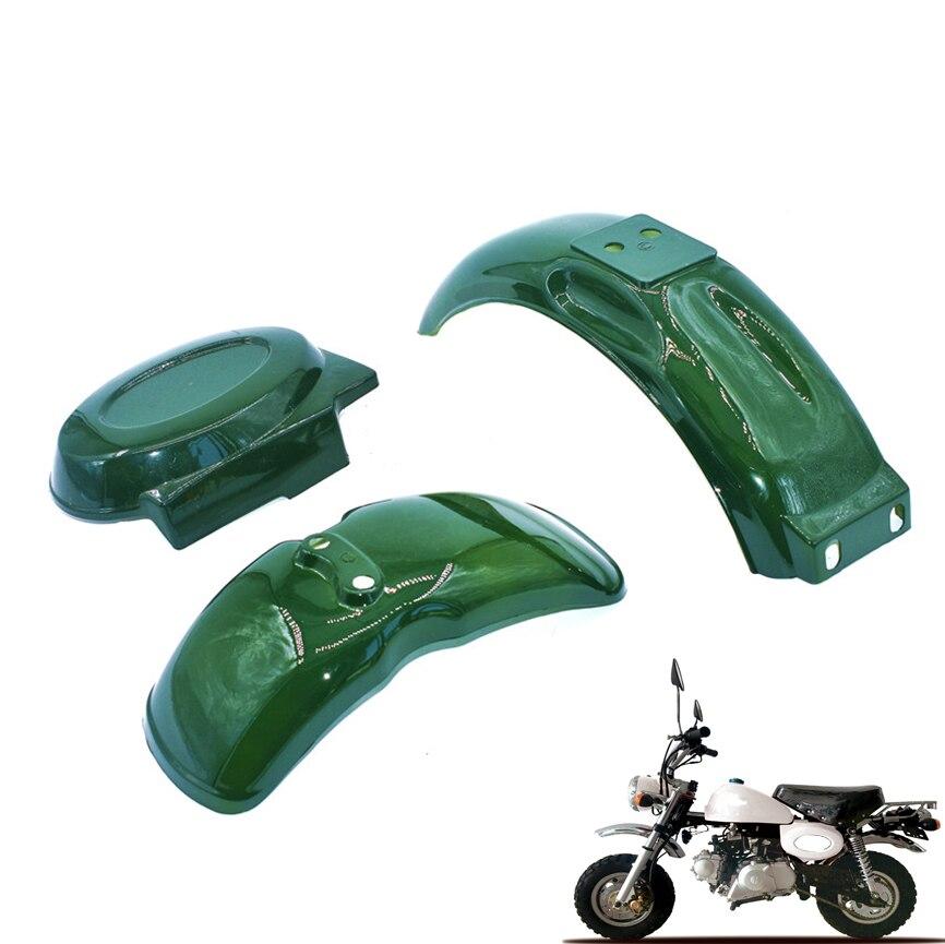 واقي من الطين الجانبي من البلاستيك الأمامي للحاجز الخلفي للدراجة الصغيرة DAX Z50A Z50R Z50J Z110 Z125