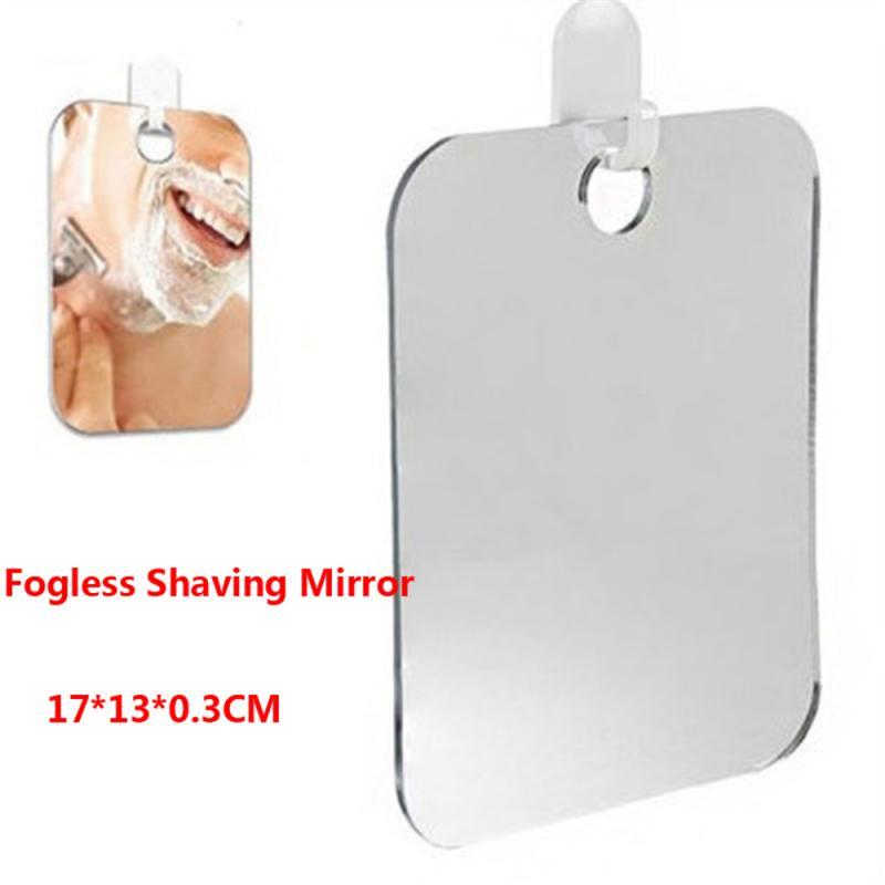 Акриловое противотуманное зеркало для душа, ванная комната, без тумана, без тумана, зеркало для мытья, для путешествий, для мужчин, зеркало для бритья 13*17 см, горячая распродажа