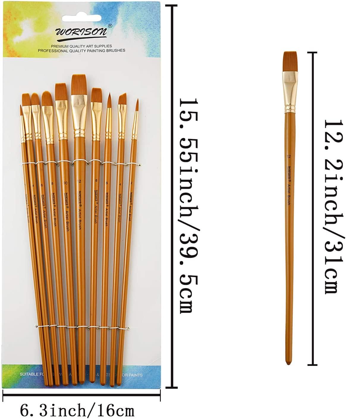 10 шт., Профессиональные кисти для рисования, с длинной ручкой